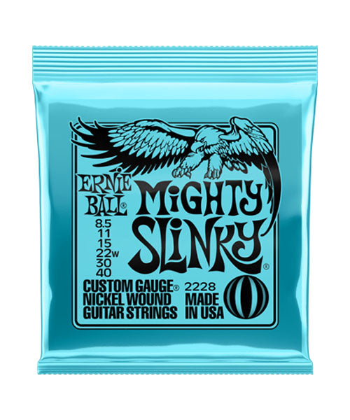 "Ernie Ball Encordadura ""Mighty Slinky"" 2228, Guitarra Eléctrica, Nickel Wound 8.5-40"