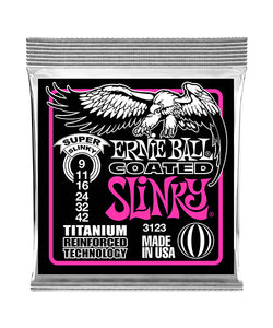 "Ernie Ball Encordadura ""Super Slinky RPS Coated Titanium"" 3123, Guitarra Eléctrica 9-42"