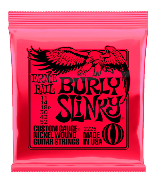 Ernie Ball Encordadura Guitarra Eléctrica 2226 Burly Slinky Nickel Wound