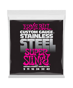 "Ernie Ball Encordadura ""Super Slinky"" Acero Inoxidable"" 2248, Guitarra Eléctrica 9-42"