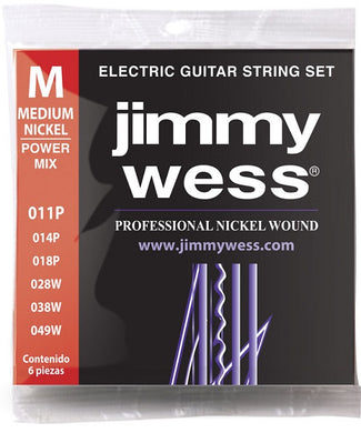 Jimmy Wess Encordadura para Guitarra Eléctrica JWGE-1011N Power Mix Medium Nickel