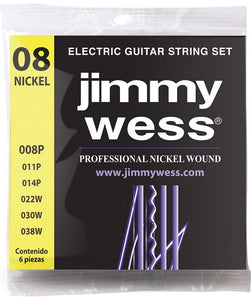 Jimmy Wess Encordadura Pro para Guitarra Eléctrica WN1008 Nickel