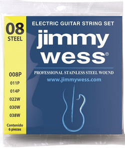 Jimmy Wess Encordadura Pro para Guitarra Eléctrica WA1008 Acero Inoxidable