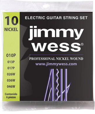 Jimmy Wess Encordadura Pro para Guitarra Eléctrica WN1010 Nickel