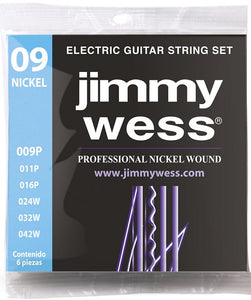 Jimmy Wess Encordadura Pro para Guitarra Eléctrica WN1009 Nickel