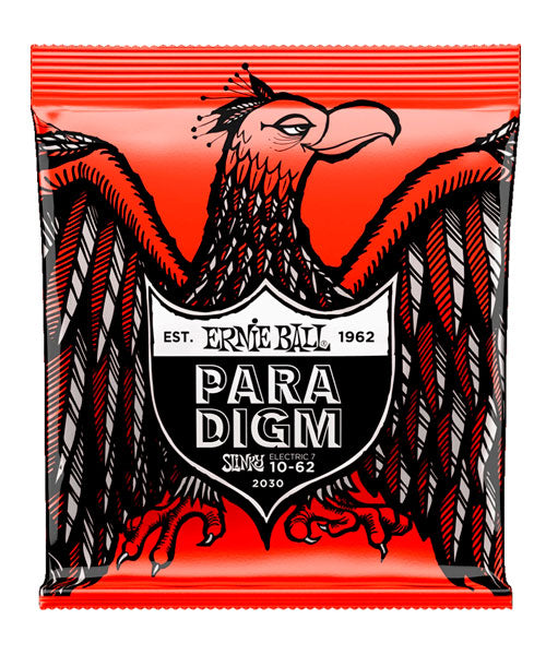 "Ernie Ball Encordadura ""Paradigm Skinny Top Heavy Bottom"" 2030,  Guitarra Eléctrica 7 Cuerdas 10-62"