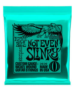 "Ernie Ball Encordadura ""Not Even Slinky"" 2626, Guitarra Eléctrica, Nickel Wound 12-56"