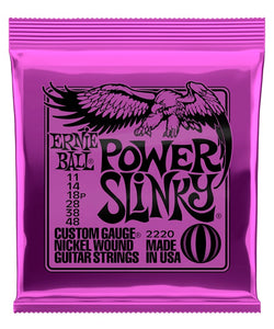 "Ernie Ball Encordadura ""Power Slinky"" 2220, Guitarra Eléctrica, Nickel Wound 11-48"