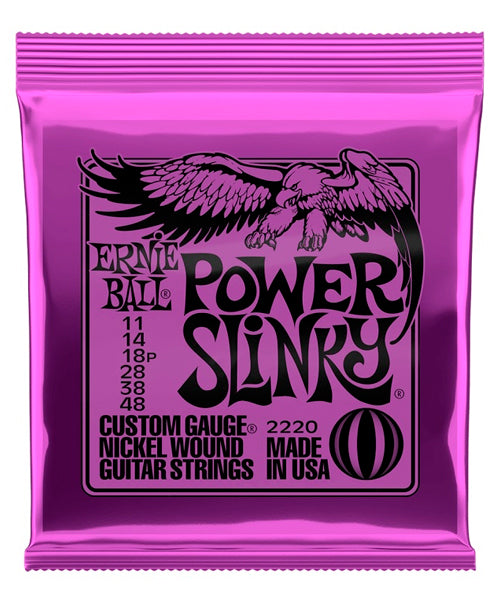 Ernie Ball Encordadura Guitarra Eléctrica 2220 Power Slinky Nickel Wound