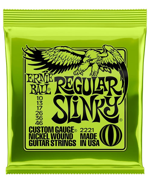 Ernie Ball Encordadura Guitarra Eléctrica 2221 Regular Slinky Nickel Wound