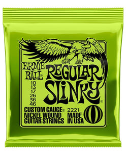 "Ernie Ball Encordadura ""Regular Slinky"" 2221, Guitarra Eléctrica, Nickel Wound 10-46"