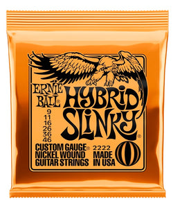 "Ernie Ball Encordadura ""Hybrid Slinky"" 2222, Guitarra Eléctrica, Nickel Wound 9-46"