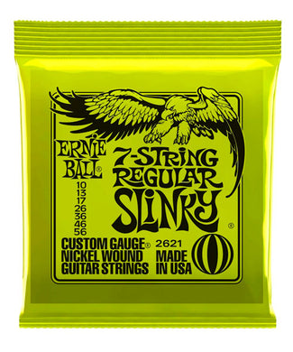 Ernie Ball Encordadura Guitarra Eléctrica 2621 Regular Slinky 7 Cuerdas Nickel Wound