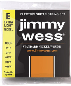 Jimmy Wess Encordadura para Guitarra Eléctrica 1408N Extra Light Nickel