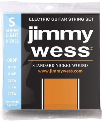 Jimmy Wess Encordadura para Guitarra Eléctrica 1409N Super Light Nickel