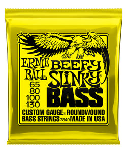 "Ernie Ball Encordadura ""Beefy Slinky"" 2840, Bajo Eléctrico, Nickel Wound 65-130"