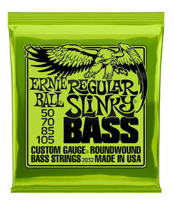 "Ernie Ball Encordadura ""Regular Slinky"" 2832, Bajo Eléctrico, Nickel Wound 50-105"