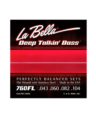 La Bella Encordadura Para Bajo Eléctrico Light Acero 0.043-0.104 760FL Deep Talkin' Bass