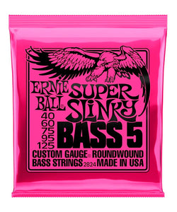 Ernie Ball Encordadura Bajo Eléctrico 2824 Super Slinky 5 Cuerdas Nickel Wound