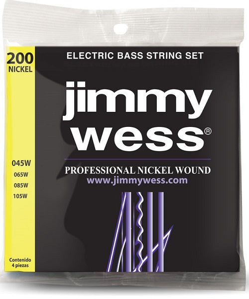 Jimmy Wess Encordadura Pro para Bajo Eléctrico WNB200 Nickel
