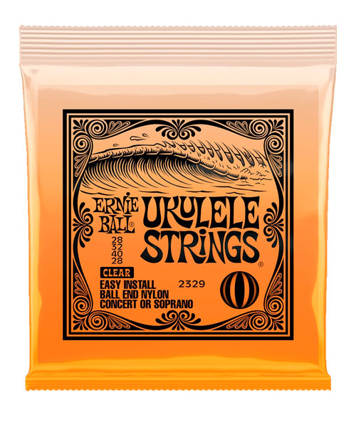 "Ernie Ball Encordadura ""Ukulele Ball End"" 2329, Soprano/Concierto, Nylon Transparente"