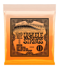Ernie Ball Encordadura Ukulele Soprano/Concierto 2329 Nylon Transparente