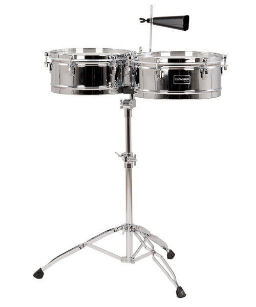"Gon Bops Timbales 13"" y 14"" Con Atril Cromados FSTB1314 Fiesta"