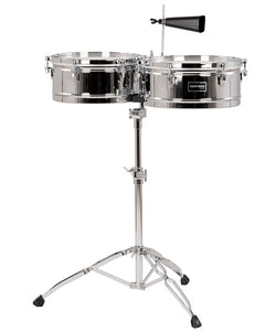 "Gon Bops Timbales 14"" y 15"" Con Atril Cromados FSTB1415 Fiesta"