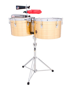 "Latin Percussion Timbales 15"" y 16"" LP258-B con Atril de Latón"