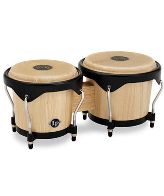Latin Percussion Bongos Natural LP601NY-AW City