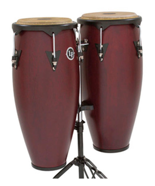 "Latin Percussion Conga 11"" y 12"" Madera Vino Con Atril LP647NY-DW City"