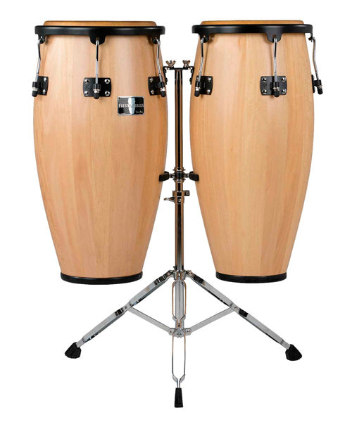 "Gon Bops Conga 11"" y 12"" FS1112SETN con Atril Madera Natural Fiesta"