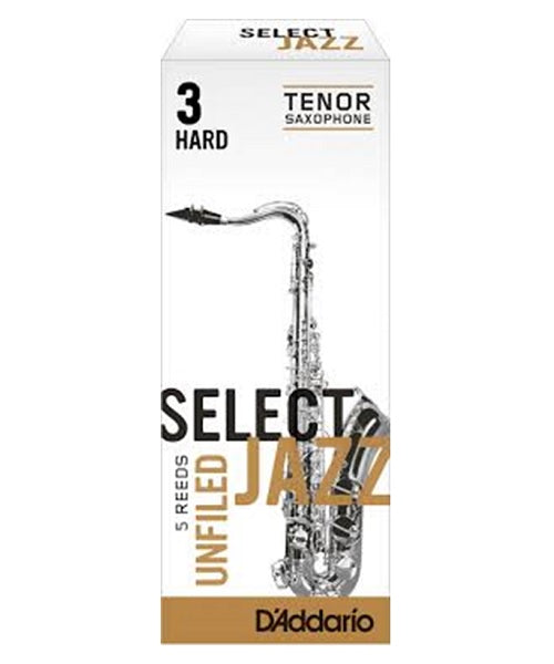 "D'Addario Woodwinds (Rico) Cañas ""Select Jazz"" Para Saxofón Tenor 3H Unfiled, RRS05TSX3H, Caja Con 5 Pzas"