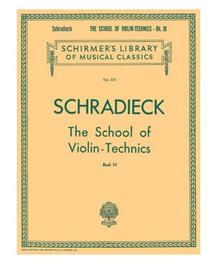 Hal Leonard SCHOOL OF VIOLIN TECHNICS – BOOK 3
