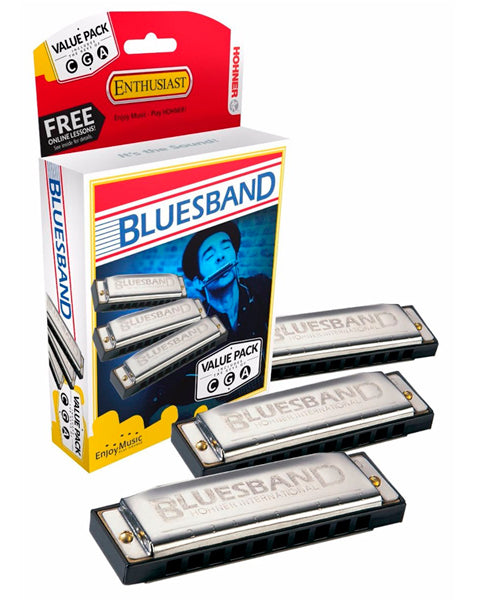 Hohner Armónicas Diatónicas Do, Sol, La Mayor M559XPS Blues Band