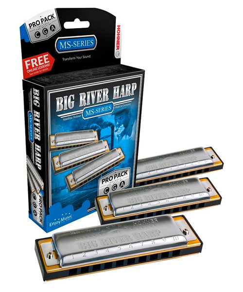 Hohner Armónicas Diatónicas Do, Sol, La Mayor M5900XP Big River Harp