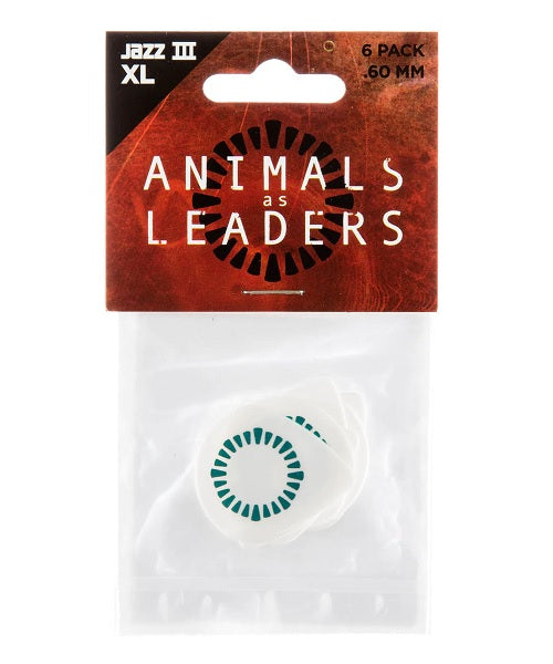 Dunlop Puas Animals As Leaders Tosin Abasi AALP03 Tortex Jazz III XL 0.60 con 6 Piezas