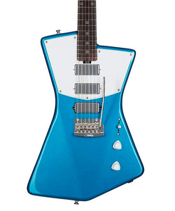 Sterling by Music Man Guitarra Eléctrica Azul Con Funda STV60-VBL2 St. Vincent