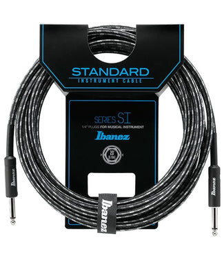 Ibanez Cable 6.10Mts Negro/Gris SI20-CCT Recto/Recto