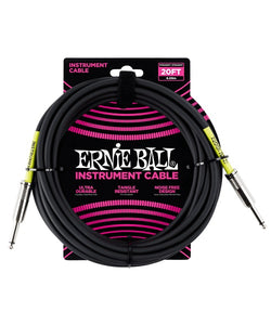 Ernie Ball Cable Clásico 6046 Negro 6.09 Mts. Recto/Recto