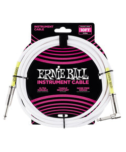 Ernie Ball Cable Clásico 6049 Blanco 3.04 Mts. Recto/Angulado