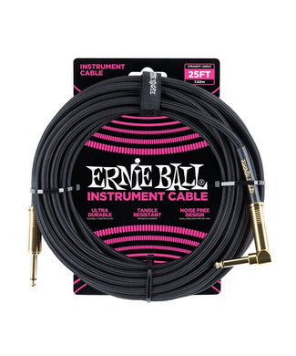 Ernie Ball Cable Braided 6058 Negro 7.62 Mts. Recto/Angulado