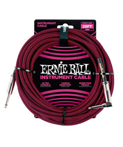 Ernie Ball Cable Braided 6062 Negro/Rojo 7.62 Mts. Recto/Angulado