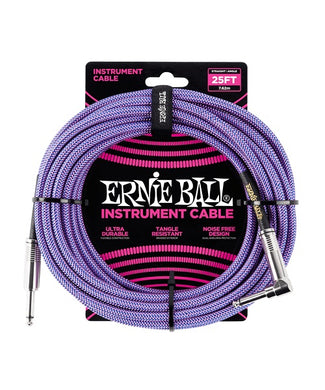 Ernie Ball Cable Braided 6069 Morado/Azul 7.62 Mts. Recto/Angulado