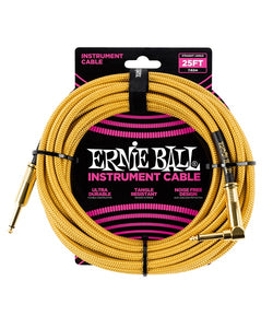 Ernie Ball Cable Braided 6070 Dorado 7.62 Mts. Recto/Angulado