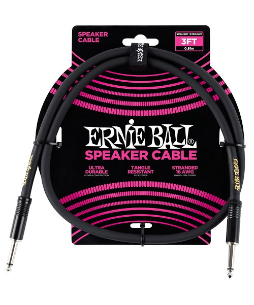Ernie Ball Cable 0.91Mts para Bafle Negro 6071