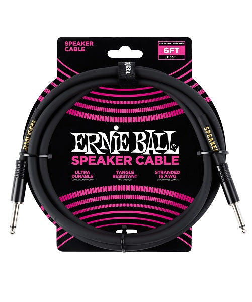 Ernie Ball Cable 1.83Mts para Bafle Negro 6072