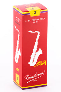 "Vandoren Caña ""Java Filed"" Para Saxofón Tenor 2, Red, SR272R(5)"