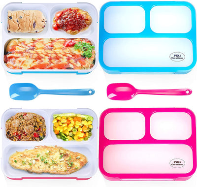 3 Compartment Leakproof Bento Lunch Box 2 Pack
