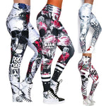 SEXY SLIM FIT SKULL PRINT YOGA PANTS (DIFFERENT SIZES & PATTERN AVAILABLE)